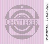 chatterer realistic pink emblem.... | Shutterstock .eps vector #1956846523