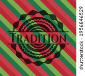 tradition christmas badge.... | Shutterstock .eps vector #1956846529