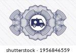 blue money style rosette.... | Shutterstock .eps vector #1956846559