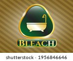 gold shiny emblem with bathtub... | Shutterstock .eps vector #1956846646