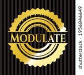 modulate shiny badge. vector... | Shutterstock .eps vector #1956846649