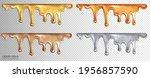 a set of liquid sticky gold ... | Shutterstock .eps vector #1956857590