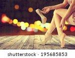 dark night and legs  | Shutterstock . vector #195685853