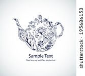vector illustration with floral ... | Shutterstock .eps vector #195686153
