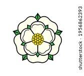 tudor rose vector isolated icon....   Shutterstock .eps vector #1956862393
