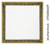 empty golden frame for picture... | Shutterstock . vector #195686609