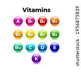 multi vitamin complex icons set....   Shutterstock .eps vector #1956875839