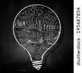 conceptual image of light bulb... | Shutterstock . vector #195687854