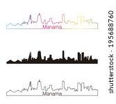 manama skyline linear style... | Shutterstock . vector #195688760