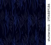floral seamless pattern. black... | Shutterstock .eps vector #1956889186