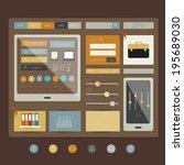 web site. flat design elements. ...