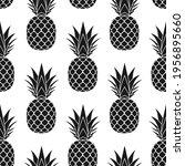 pineapple seamless pattern.... | Shutterstock .eps vector #1956895660