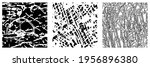 set of black and white grunge... | Shutterstock .eps vector #1956896380