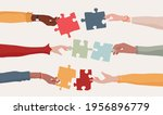 cooperation and collaboration... | Shutterstock .eps vector #1956896779