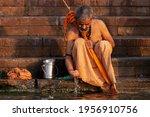 Unidentified Man Taking Ritual...