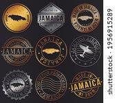 jamaica business metal stamps.... | Shutterstock .eps vector #1956915289