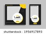 creative modern set sosial...   Shutterstock .eps vector #1956917893
