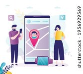 parents monitoring whereabouts...   Shutterstock .eps vector #1956929569