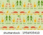 ancient egyptian writing script ... | Shutterstock .eps vector #1956935410