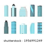 city skyscrapers isolated on...   Shutterstock . vector #1956991249