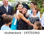 hispanic student and family... | Shutterstock . vector #195701963