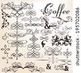 vector set of calligraphic... | Shutterstock .eps vector #195702086