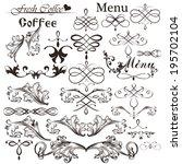 vector set of calligraphic... | Shutterstock .eps vector #195702104