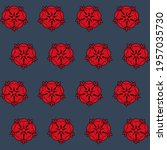 pattern with a red black... | Shutterstock .eps vector #1957035730