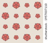 pattern with light red and... | Shutterstock .eps vector #1957037110