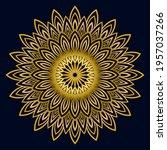 cute gold mandala. ornamental... | Shutterstock .eps vector #1957037266