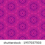 abstract fantasy striped thin... | Shutterstock .eps vector #1957037503