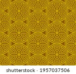 abstract fantasy striped thin... | Shutterstock .eps vector #1957037506