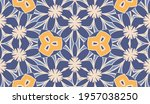 abstract colorful doodle flower ... | Shutterstock .eps vector #1957038250