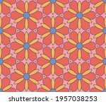 abstract colorful doodle flower ... | Shutterstock .eps vector #1957038253