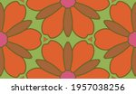 abstract colorful doodle flower ... | Shutterstock .eps vector #1957038256