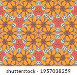 abstract colorful doodle flower ... | Shutterstock .eps vector #1957038259