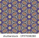 abstract colorful doodle flower ... | Shutterstock .eps vector #1957038280