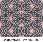 abstract colorful doodle flower ... | Shutterstock .eps vector #1957038283