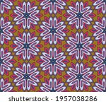 abstract colorful doodle flower ... | Shutterstock .eps vector #1957038286
