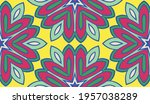 abstract colorful doodle flower ... | Shutterstock .eps vector #1957038289