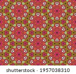abstract colorful doodle flower ... | Shutterstock .eps vector #1957038310