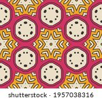 abstract colorful doodle flower ... | Shutterstock .eps vector #1957038316