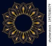 cute gold mandala. ornamental... | Shutterstock .eps vector #1957038379