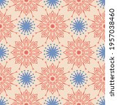 abstract seamless pattern with... | Shutterstock .eps vector #1957038460
