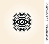 vision icon logo design vector. ...   Shutterstock .eps vector #1957040290