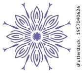 cute mandala. ornamental round... | Shutterstock .eps vector #1957040626