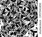seamless black and white... | Shutterstock .eps vector #1957041850