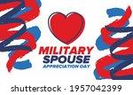 military spouse appreciation... | Shutterstock .eps vector #1957042399