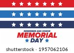 memorial day in united states.... | Shutterstock .eps vector #1957062106