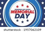 memorial day in united states.... | Shutterstock .eps vector #1957062109